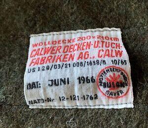 Wolldecke von der Bundeswehr 210x200cm BW Wolldecke Top Qualität