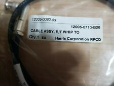 Coaxial Jumper R/T Whip to PA Cable Assembly 12005-0710-B28 Harris  ( NEW)