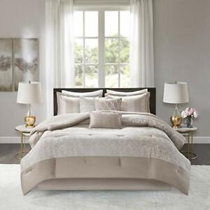 Madison Park Luxury Comforter Set-Traditional Jacquard Design All Season Down...