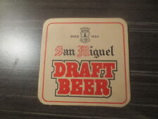 1 only SAN MIGUEL  DRAFT BEER  1990,s  Issue  COASTER