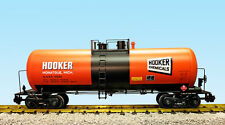 USA Trains G Scale 42 Foot Modern Tank Car R15256  Hooker Chemicals - Orange, Bl