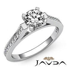 Excelente Redondo Diamante Clásico Anillo de Compromiso GIA H VS2 14k Oro Blanco