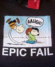 Peanuts Charlie Brown Football W/Lucy Tshirt--Epic Fail