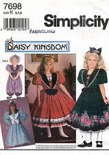 1990's VTG Simplicity Girls' Romper & Dress Daisy Kingdom Pattern 7698   6-7-8