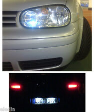 GOLF IV 4 Pack Ampoules LED blanc veilleuses position plaque immatriculation