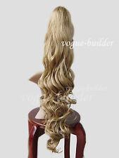 26 inch Golden Blonde Hair-Piece Wavy Extension Ponytail 24