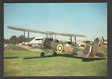 POSTCARD Aircraft De HAVILLAND TIGER MOTH with Early World War II Markings
