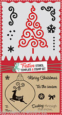 7x CHRISTMAS~STENCIL,TEMPLATE & STAMP SET~CRAFT~CARDS~NEW~SCRAPBOOKING~ART~
