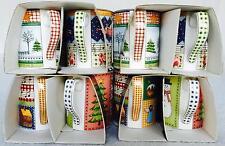RARE Vintage Set of 4 Royal Doulton Christmas Coffee Mugs 1999 NEW Snow Country