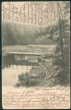 Allenstein, Postkarte Fahrbrücke,1909,  Z.2-3