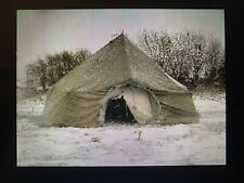 Ex British Army 10 Man Arctic Bell Tent with Chimney Section - Heavy Duty