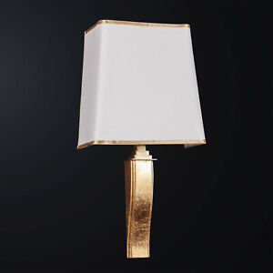 Applique Classic Wooden Leaf Gold And Brass To 1 Light Bga 3171-a