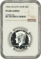 1964 50c NGC PR 68 CAM (Accented Hair) Popular Variety - Kennedy Half Dollar