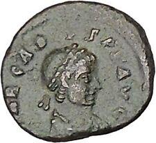 ARCADIUS 383AD Ancient Roman Coin Bivouac Military Camp Gate i42758