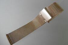 Milanaise Uhrenarmband, Edelstahl 20 mm rosegold Faltschließe
