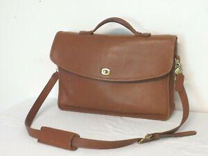 Coach Vintage Lexington 5265 Briefcase British Tan Brown Brass Portfolio Bag