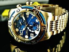 Invicta Men's 50mm Bolt Chronograph Blue Dial 18K GP Stainless Steel Watch