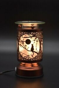 Metal Electric Touch Fragrance Lamp Oil Warmer Wax Tart Burner Cat Design
