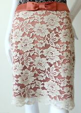REVIEW - - Size 10 US 6 Skirt Vivica Pink and Cream Lace