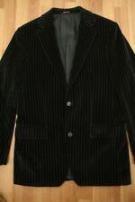 BOSS HUGO Sport Coat Blazer Jacket Black Blue Stripes