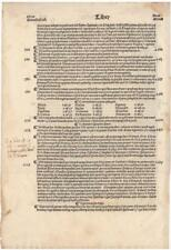 1486 Incunable Leaf from the Chronicarum Supplementaum