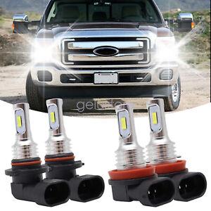 For Toyota Camry 2007-2011 4X 6000K Combo LED Headlight High Low Beam Bulbs Kit