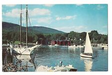 CAMDEN HARBOR  Sailboats Sail Boats Mountains BEAUTIFUL Maine ME Postcard