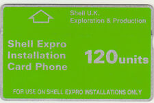BT Oil & Gas CUR002 Shell Expro Oil & Gas Rig, mint phonecard