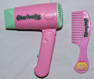 1995 Cabbage Patch Kids Comb & Hair Blower Dryer (toy) PINK approximately 5""
