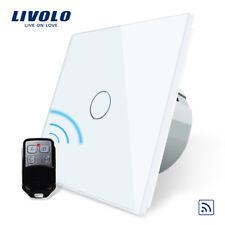 FUNK Touch EIN/AUS Lichtschalter Fernbedienbar LIVOLO VL-C701R-11 Weiß Glas