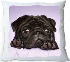 KISSENHÜLLE Mops 60x60cm Dekokissen Zierkissen Hund Hundekissen Kissen Bulldog