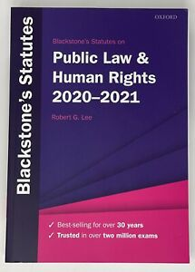 Blackstone Public Law And Human Rights Statute Book 2020-2021
