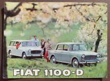 Vintage 1965 Fiat 1100-D Sales Dealer Advertising Brochure