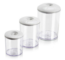 Vacuum Canisters Magic Vac® Reusable Food Containers Storage Preserve Set of 3.