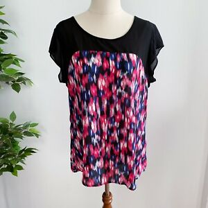 Jeanswest Women's Size 12 Sleeveless Top Blouse Red Blue Black