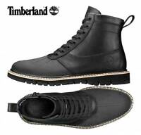Timberland Britton Hill Men's Side-Zip Black Leather Rubber Toe Boots A1JIO001
