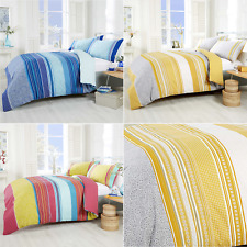 Paisley Pattern Abstract Stripe Bright Bold Linen Duvet Bedding Quilt Cover Set