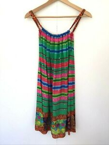 Ruby Yaya Strap Tunic Top Size M Multicoloured Hippie Gypsy Summer