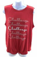 Raggs II Riches Womens Top Red White Challenge Sleeveless