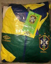 NEW Vintage Umbro Brazil Football Soccer Tracksuit Jacket Pants Men's Medium
