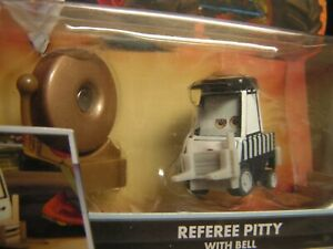 Disney Pixar Cars TOON Wrestling REFEREE PITTY With BELL MONSTER TRUCK Series