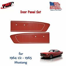 Red Vinyl Door Panels for 1964 1965 Mustang by TMI - Made in the USA  In Stock