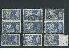 wbc. - GB - GEORGE V1 - G745- 1951 HIGH VALUES - 9 x 10/-d. - COMMERCIALLY  USED