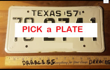 1957 Texas License Plates  VINTAGE ANTIQUE CLASSIC