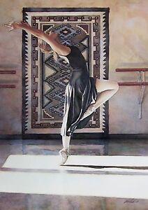 "Steve Hanks, (1949-2015), ""Southwest Ballet"", matted print, 8.5""h x 5.75""w image"