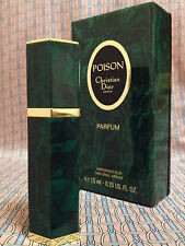 Vintage 1980s POISON 1/4 oz 7.5 ml Pure Parfum Spray Christian Dior OLD FORMULA