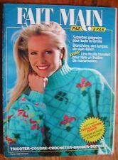Revue FAIT MAIN Pas à pas de février 1990 - Marionnettes, lampes style italien