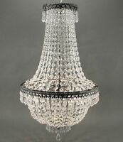 LUSTRE CRISTAL 65cm Lampe Plafonnier korbleuchter Lustre en cristal NEUF