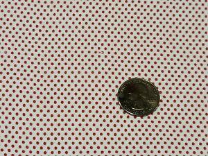 FULL Vintage feedsack: opened,  Tiny Red Polka-dots
