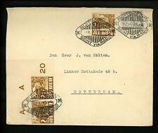 Postal History Netherlands Indies Sc#114+166(3) Radio 1935 Buitenzorg Rotterdam